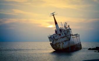 Shipwreck near Paphos, Cyprus